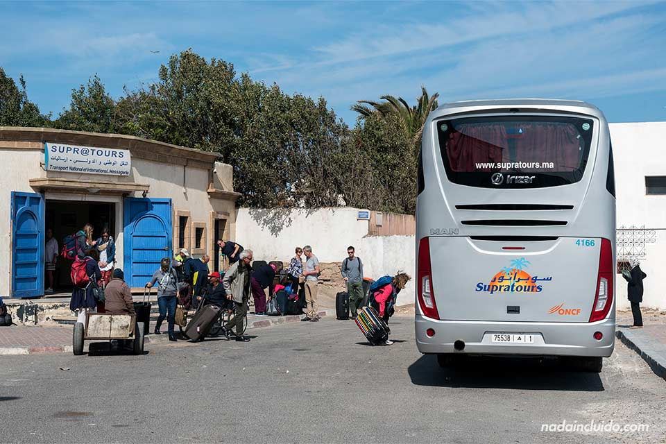 Estación de autobuses de Supratour en Essaouira (Marruecos)