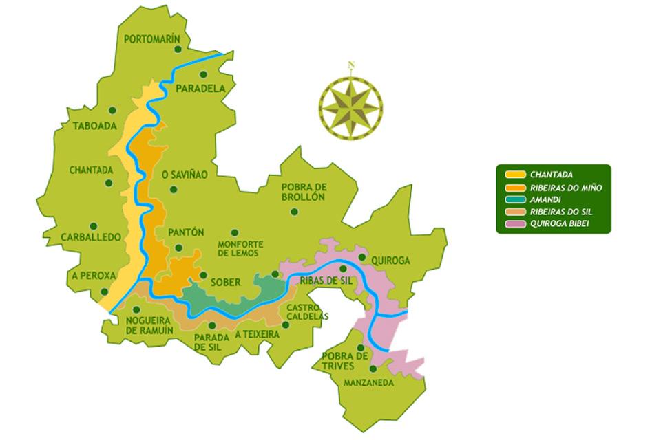 Plano de Roberto Novo sobre Ribeira Sacra (Galicia)