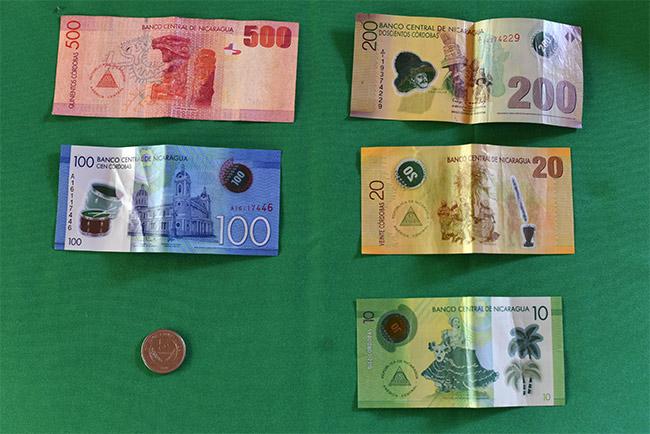 Billetes de Córdoba, la moneda de Nicaragua