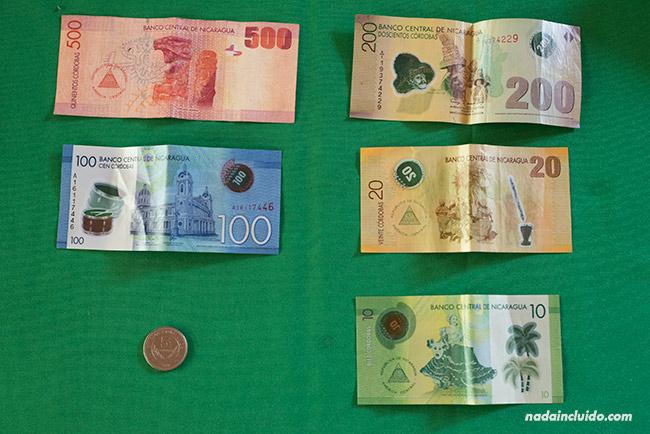 Billetes de Córdoba, la moneda utilizada en Nicaragua