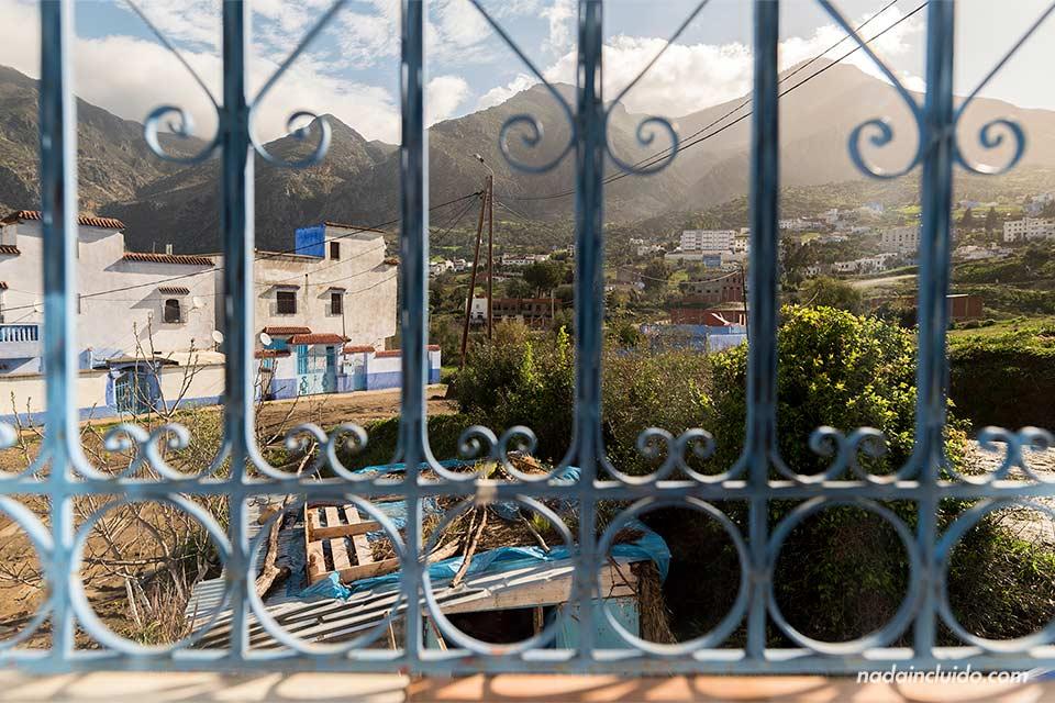 Vistas desde el apartamento de AirBnb en Chefchaouen (Marruecos)