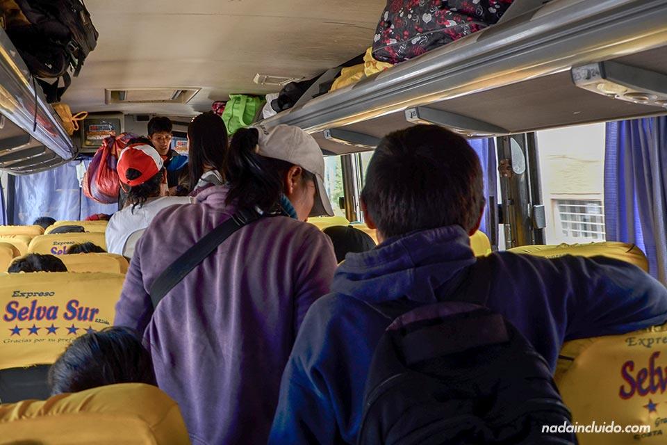 Autobús Selva Sur, recorrido Cuzco - Santa María