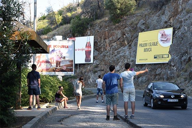 Haciendo autostop en la ruta Budva - Cetinje (Montenegro)