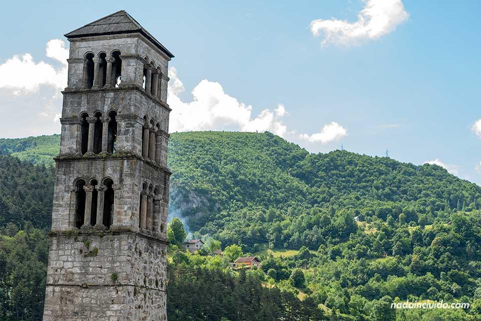 Torre en la fortaleza de Jajce (Bosnia)