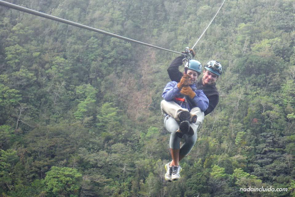Canopy en parejas en Monteverde, Costa Rica