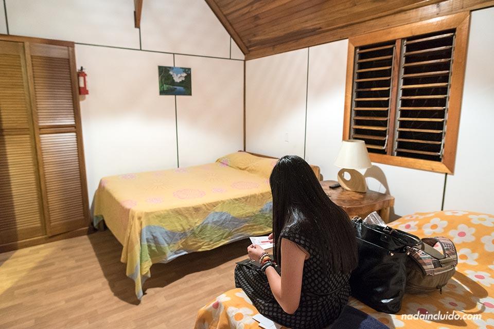 Interior de las Cabinas Calalú, Puerto Viejo (Costa Rica)