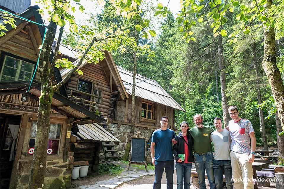 Con Borislav Jankovic, principal responsable del Zelenkovac Ecovillage (Bosnia)