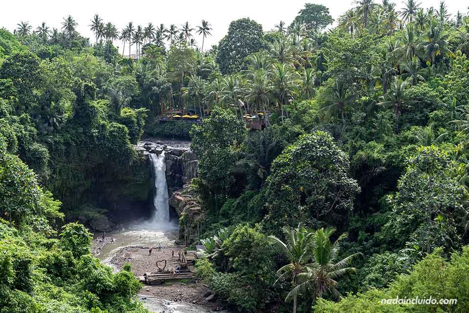 Cascada Tegenungan desde lejos (Bali, Indonesia)