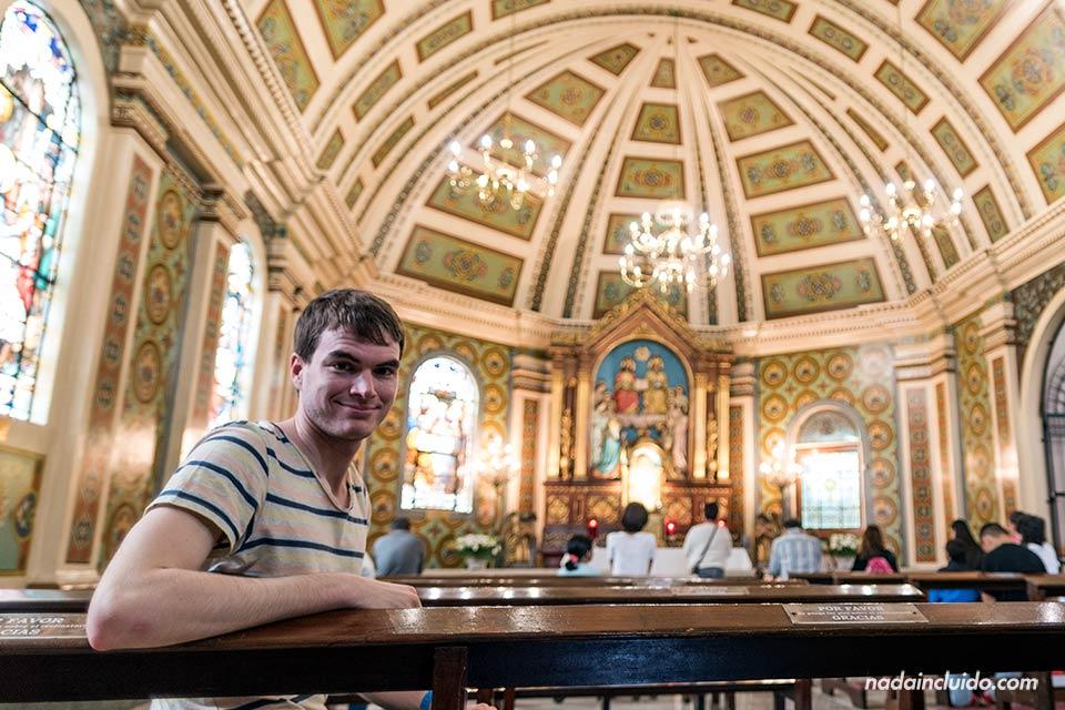 En la capilla de la catedral de San José (Costa Rica)