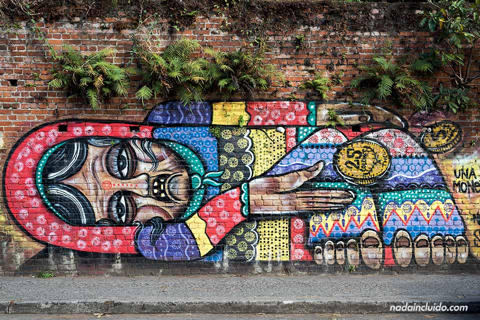 Grafiti en el barrio del Carmen de San José (Costa Rica)