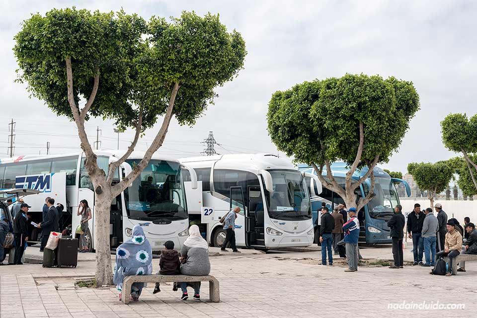 Estación de autobuses de Agadir (Marruecos)