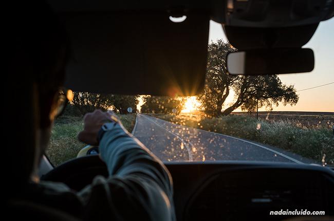 Atardecer en nuestro roadtrip por el Alentejo (Portugal)