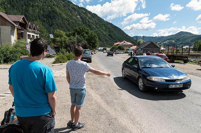 Haciendo autostop en Rumanía