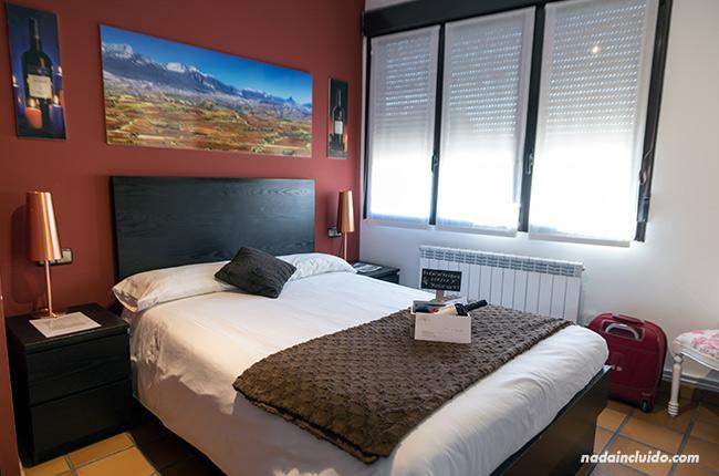 Habitación del Agroturismo Valdelana en Elciego (Rioja Alavesa, País Vasco)