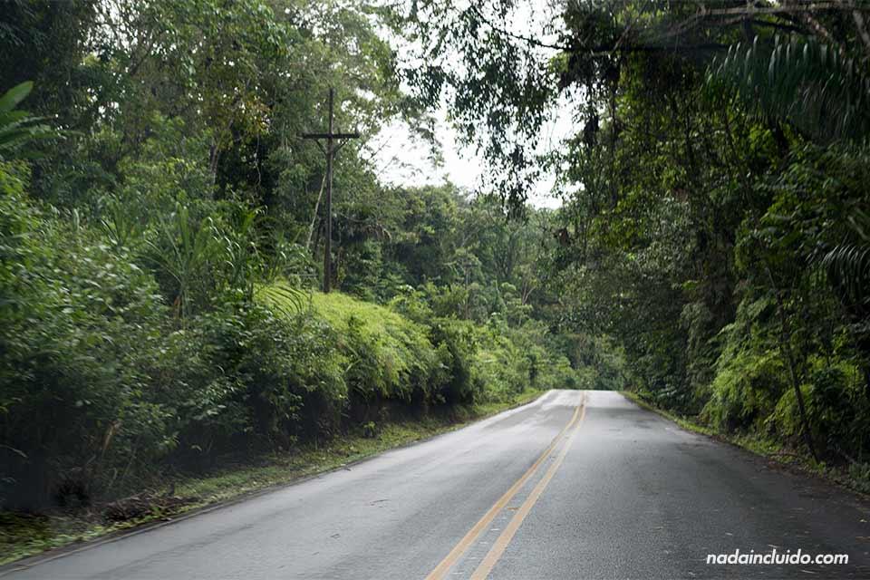 Tramo de la carretera panamericana en su paso por Costa Rica