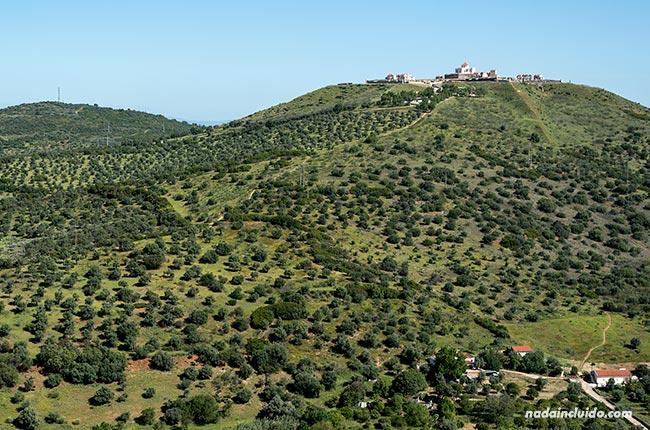 Vistas del fuerte de Santa Luzía desde Elvas (Alentejo, Portugal)