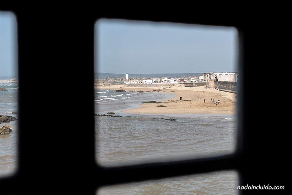 Vistas de Essaouira desde la habitación del riad Mimouna (Marruecos)