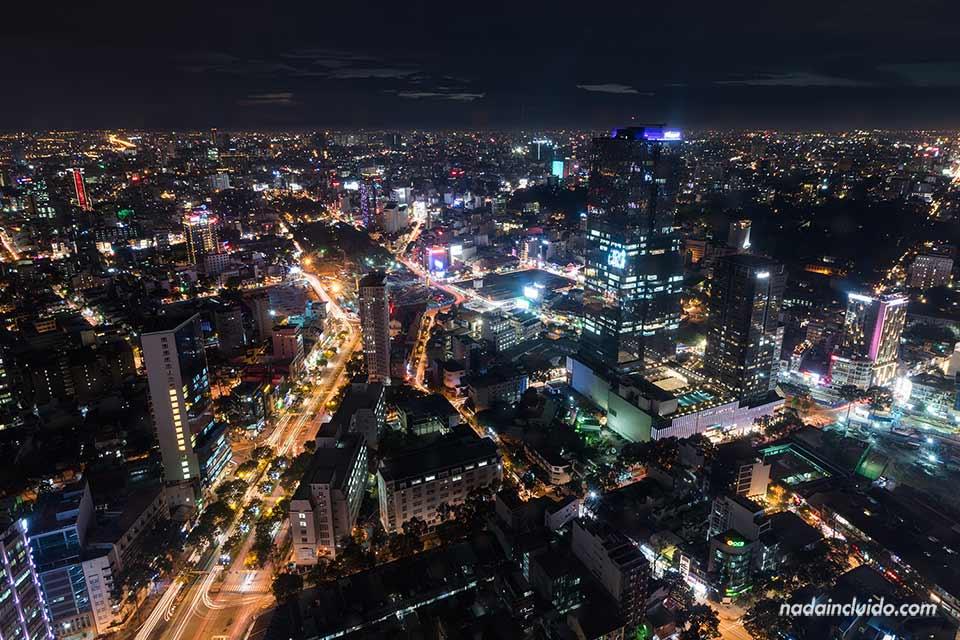 Vista de Ho Chi Minh desde lo alto de la Torre Bitexco (Vietnam)