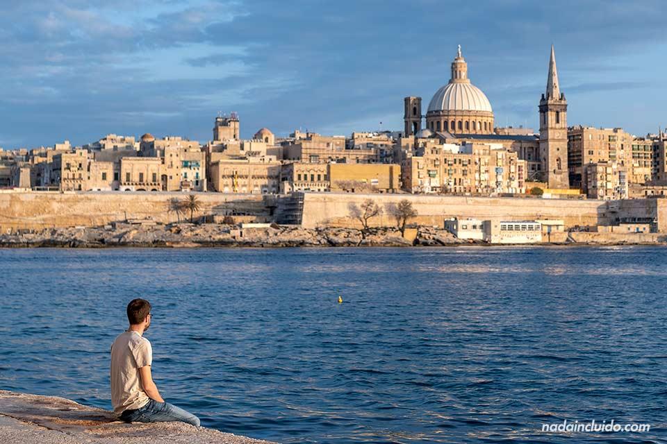 En un mirador de La Valeta (Malta)