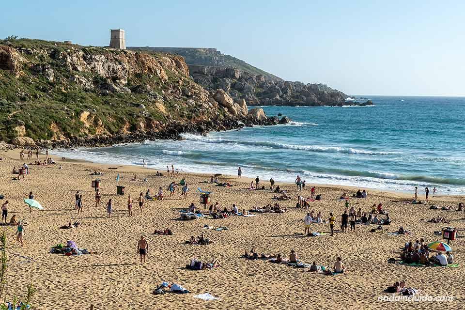 Golden Bay es una de las mejores playas de Malta