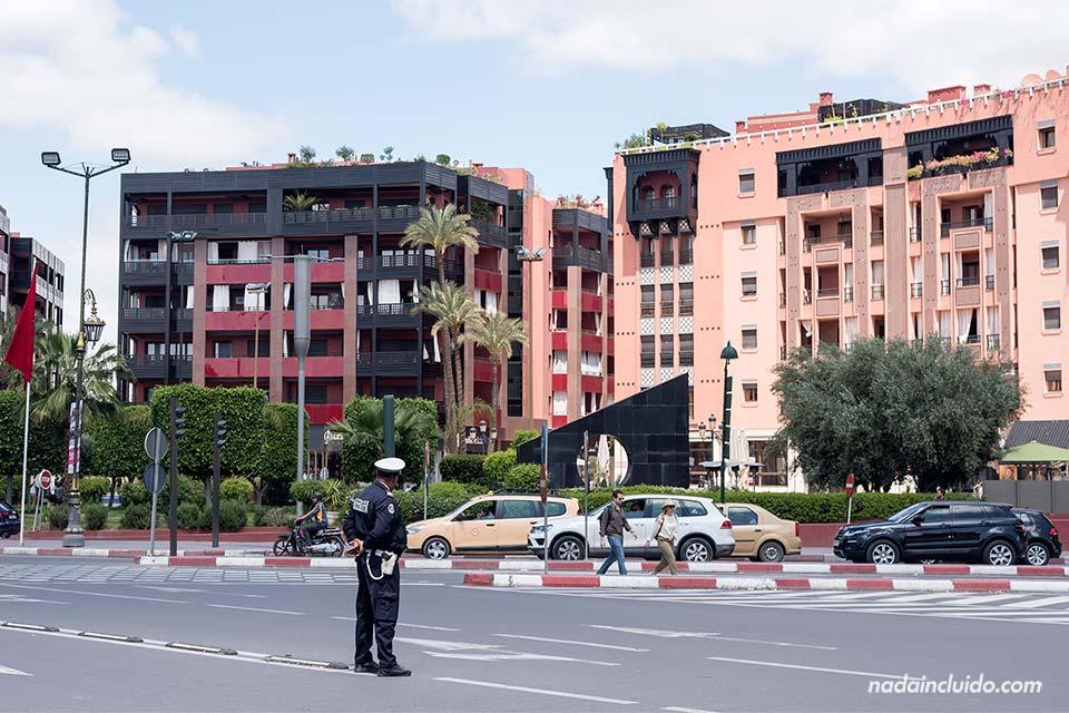 Gueliz, un barrio de la Ville Nouvelle de Marrakech (Marruecos)