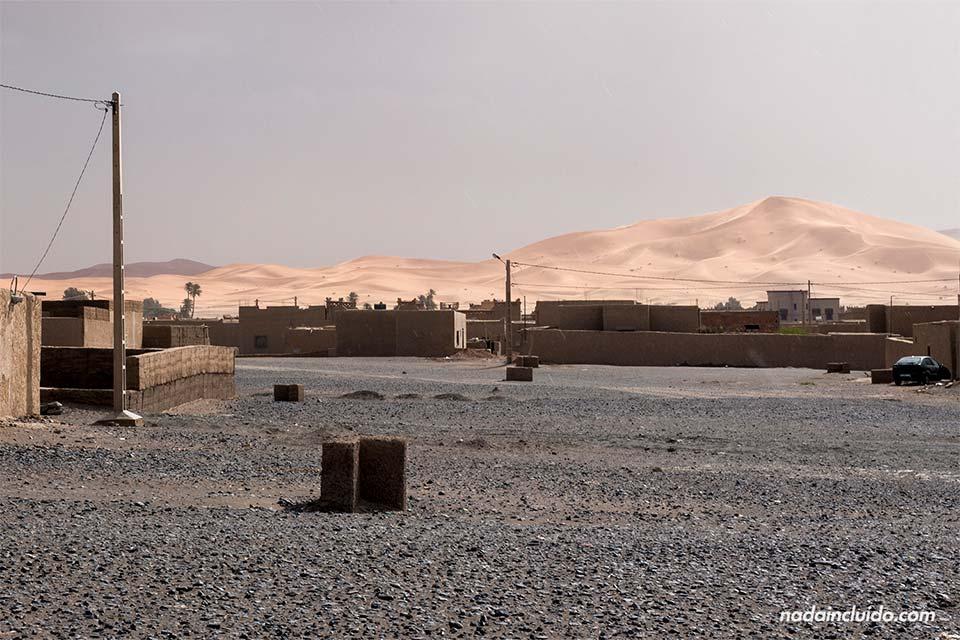 Merzouga, una localidad junto al desierto del Sáhara (Marruecos)