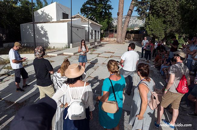 Blogueros en el Centro de interpretación del Mamut, en Padul (Granada)
