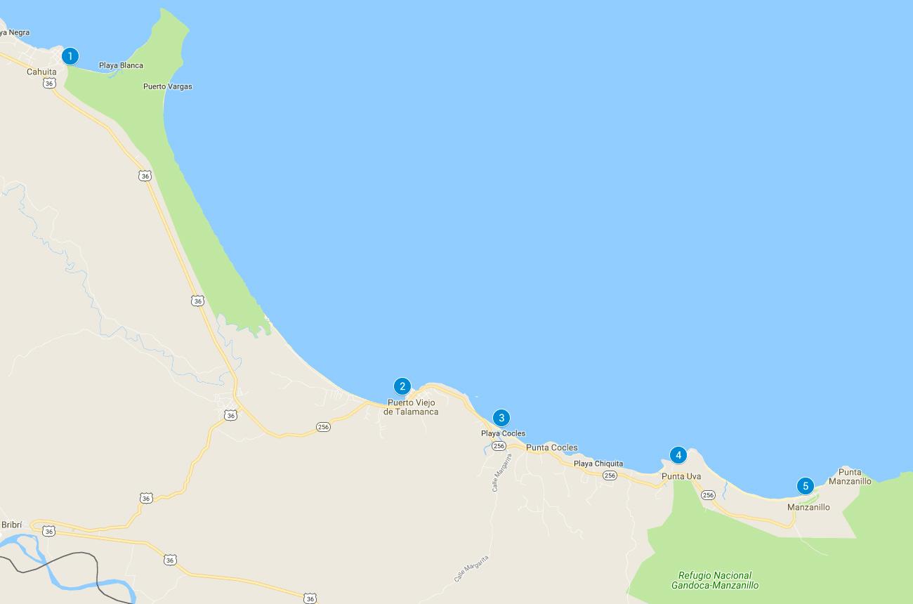 Playas recomendadas en el Caribe de Costa RIca