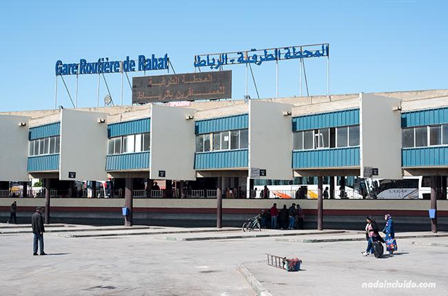 Estación de buses de Rabat (Marruecos)