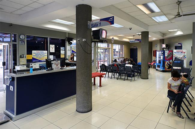 Terminal de Ticabus en San José para la línea Costa Rica - Nicaragua