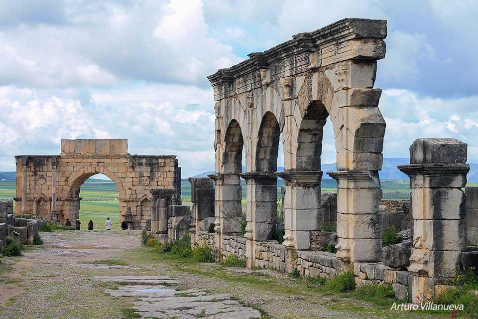 Las ruinas romanas de Volubilis en Marruecos - Foto de Arturo Villanueva
