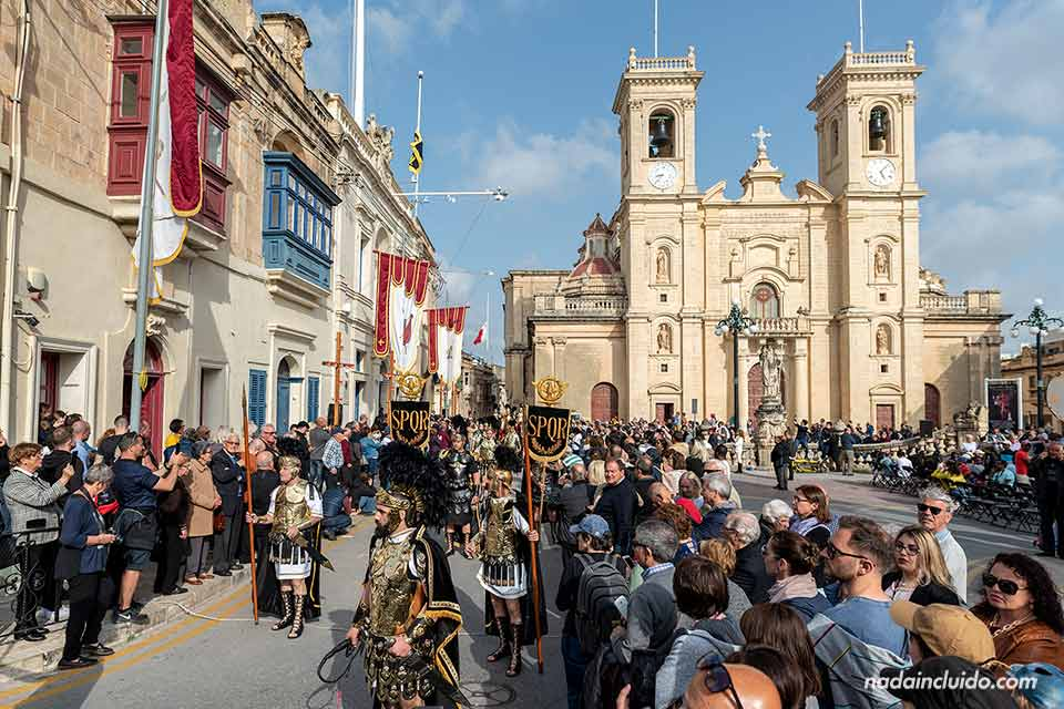 Procesión de Semana Santa en Zebbug, localidad de Malta