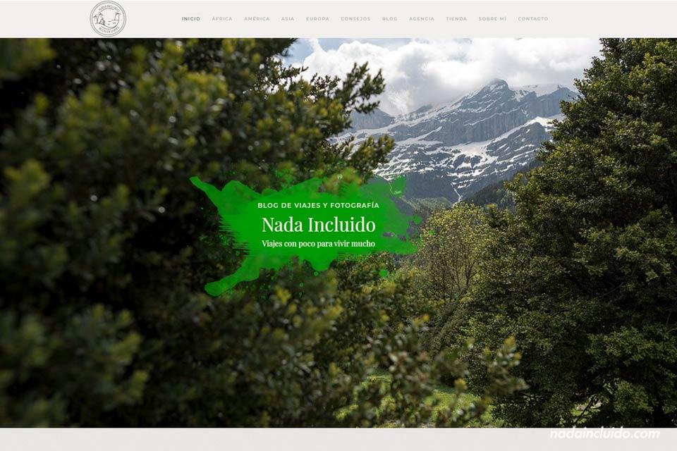 Así es la nueva página de inicio de Nada Incluido - Blog de viajes