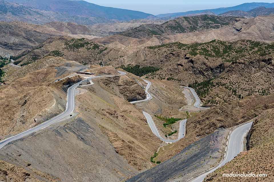 Tizi n'Tichka o alto de Tichka, paso de carreteras en Marruecos