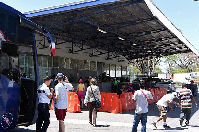 Puesto fronterizo entre los países de Costa Rica y Nicaragua