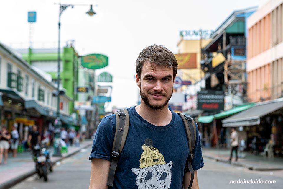 En la Khao San Road de Bangkok (Tailandia)