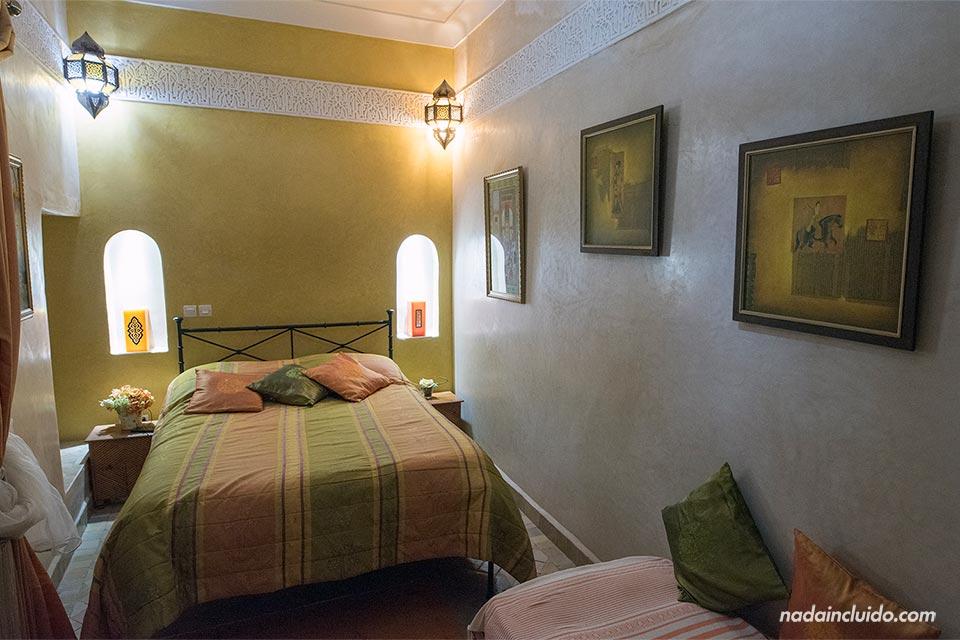 Habitación del Riad Couleurs du Sud, Marrakech (Marruecos)