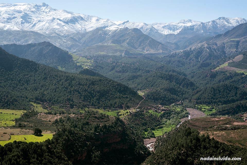 Paisaje de El Atlas marroquí (Marruecos)