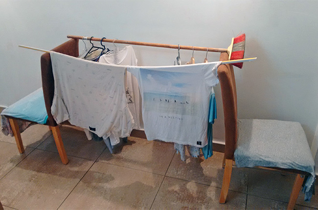 Tendiendo la ropa en Sibiu