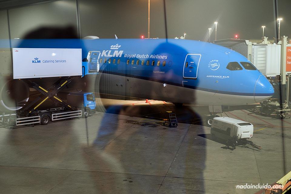 Aviones de KLM en el aeropuerto de Amsterdam (Holanda)