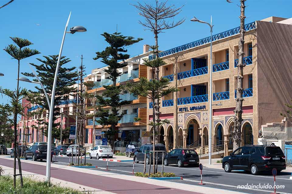 Fachada del hotel Miramar en Essaouira (Marruecos)