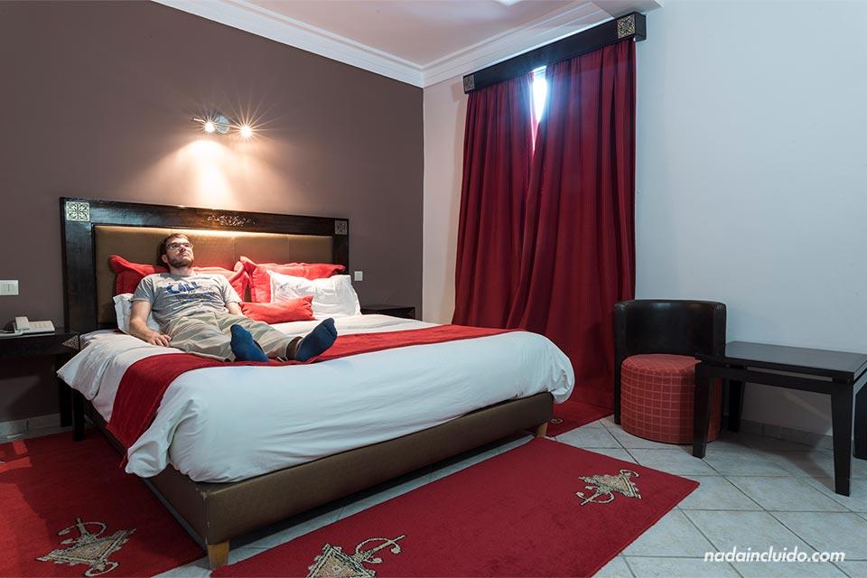 En la habitación del hotel Miramar en Essaouira (Marruecos)
