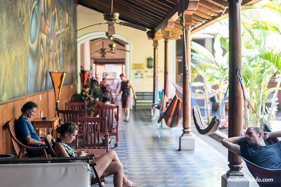 Zonas comunes en el Hostal Oasis de Granada (Nicaragua)