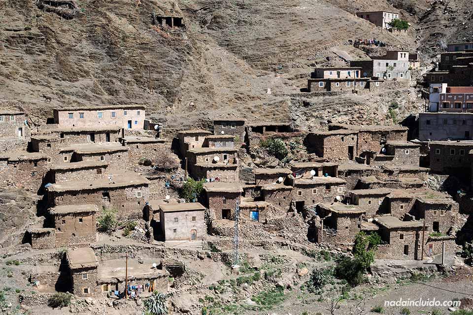 Aldea en la zona de El Atlas (Marruecos)