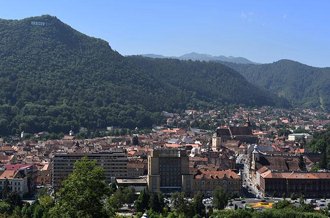 Vista de Brasov desde lo alto (Rumanía)