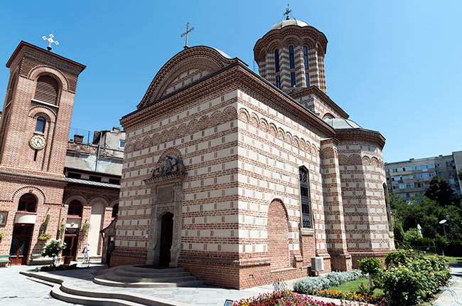 Fachada de la Biserica Sfântul Antonie (Bucarest, Rumanía)
