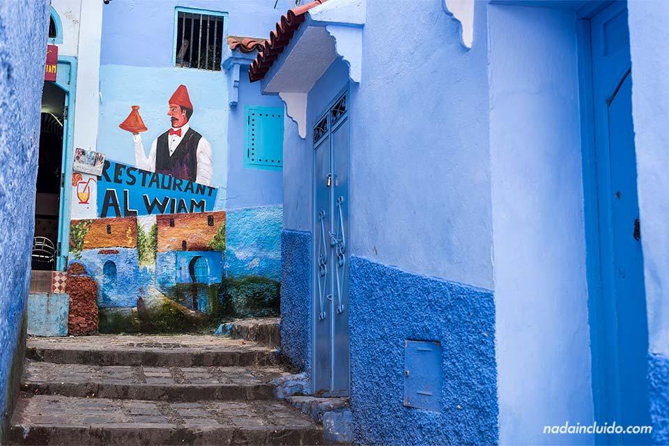 Restaurante Al Wiam en la medina de Chefchaouen (Marruecos)