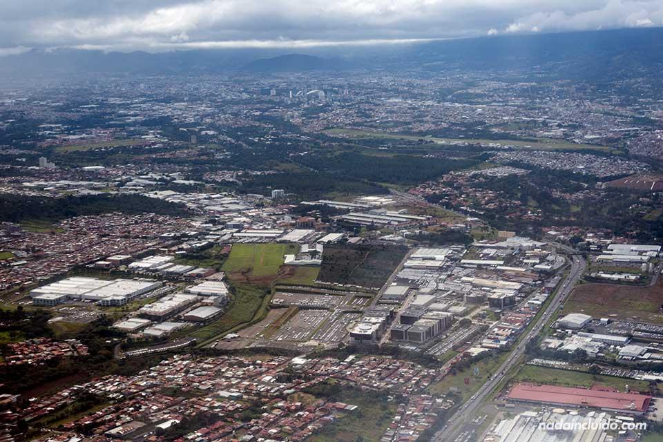 Vistas de San José desde el aire