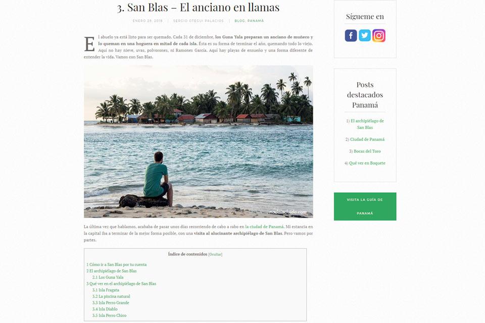 Nuevo diseño del blog de viajes - Nada Incluido