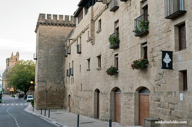 Murallas en el pueblo de Laguardia, capital de Rioja Alavesa (País Vasco)